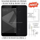 Harga Xiaomi Redmi 4X Prime Ram 3Gb Rom 32Gb Black Xiaomi Ori