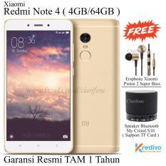 Xiaomi Redmi Note 4 Snapdragon 625 - Ram 4GB - Rom 64GB - 4G - Garansi Resmi - Gold