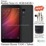 Penawaran Istimewa Xiaomi Redmi Note 4 Ram 4Gb Rom 64Gb 4G Garansi Resmi Matte Black Terbaru