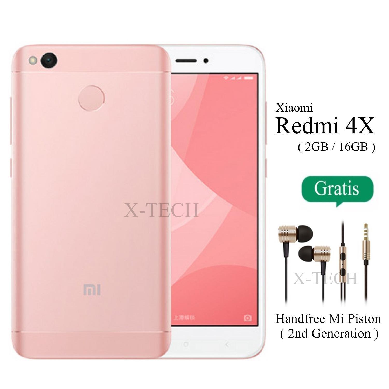 Xiaomi Redmi 4X - Ram 2GB - Rom 16GB - Fingerprint - Jaringan 4G