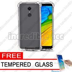 Xiaomi Redmi 5 Plus (5,99 inch) Softcase Silicon Anti Crack / Anti Shock Elegant Softcase - White Clear + Free Tempered Glass
