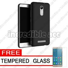 Xiaomi Redmi Note 3 Pro Baby Skin Soft Anti Fingerprint Babby Skin Softase Silicon Slim Matte Ultra Slim - Black + Free Tempered Glass