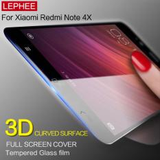 Xiaomi Redmi Note 4x Screen Protector - Tempered Glass 2.5D 0.3mm Full Screen Edge List Warna - Hitam