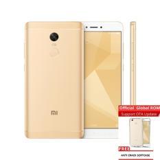 Jual Xiaomi Redmi Note 4X Snapdragon 3Gb 16Gb Gold Grs Distributor 1 Tahun Free Anti Cr*ck Softcase Online