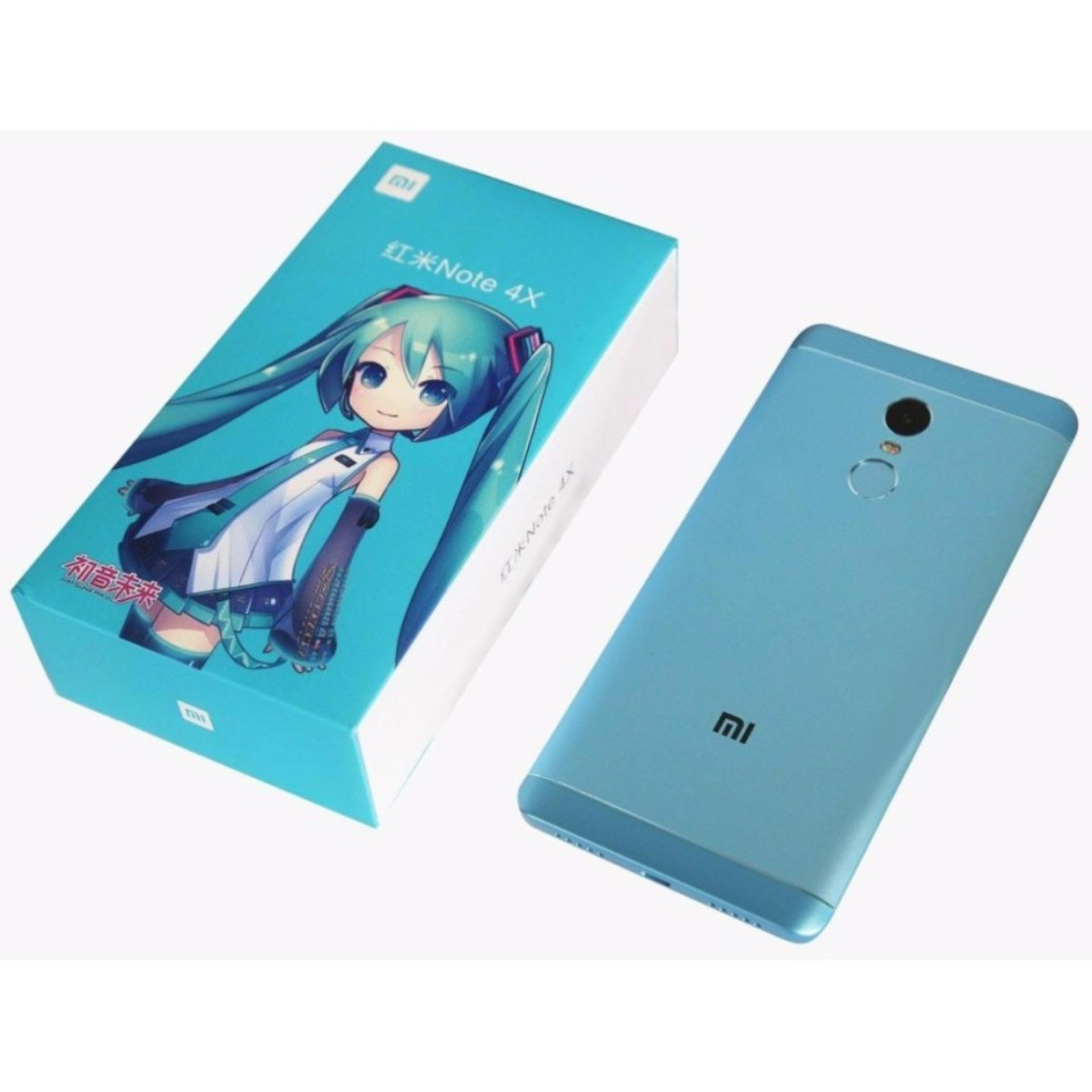 Harga Xiaomi Redmi Note 4X Snapdragon Ram 3 Gb 32 Gb Blue Limited Edition Asli Xiaomi