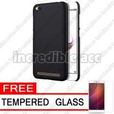 Xiaomi Redmi Note 5A (5,5 inch Non Fingerprint) Nillkin Frosted Shield Hardcase Elegant - Black + Free Tempered Glass