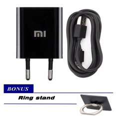 Xiaomi Travel Adapter Charger 1A For Xiaomi And All Type Hp Sejenis + Ring Stant Mobile Phone
