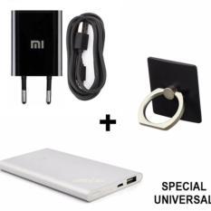 Toko Xiaomi Travel Adapter Charger Ring Stant Powerbank Slim Paket Universal For All Type Hp Termurah Di Dki Jakarta