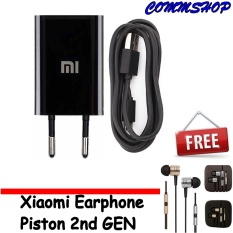 Xiaomi Travel Charger 1A Free Xiaomi Earphone Piston 2Nd Gen Xiaomi Diskon 40