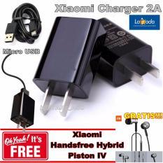 Xiaomi Travel Charger 2A 5 V Micro Usb Cable Gratis Xiaomi Handsfree Hybrid Pixton Iv Dki Jakarta Diskon