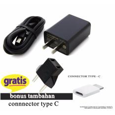 Xiaomi Travel Charger Fast Charging 5V-2A - Hitam-Original BONUS tambahan connector type C