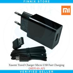 Harga Xiaomi Travel Charger Micro Usb Fast Charging Mdy 03 Af Black Baru
