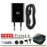 Diskon Xiaomi Travel Charger Original Charger 5V 1A Hitam Gratis Xiaomi Headset Piston 3 Hitam For Smartphones