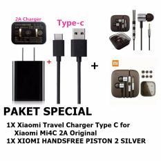 Xiaomi Travel Charger Type C For Xiaomi Mi4C 2A Original Earphone Big Bass Piston Mi 2Nd Generation Handsfree Headset Xiaomi Diskon 50