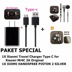 Beli Xiaomi Travel Charger Type C For Xiaomi Mi4C 2A Original Earphone Big Bass Piston Mi 2Nd Generation Handsfree Headset Dengan Kartu Kredit