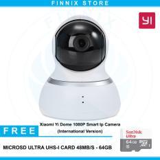 Xiaomi Yi Dome 1080P Smart IP Camera International Version + Free SanDisk 64GB - White