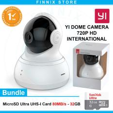 Xiaomi Yi Dome 720P Smart IP Camera / CCTV International Version Bundle SanDisk 32GB