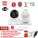 Berapa Harga Xiaomi Yi Dome Camera 720P 112 Wide Angle 360 View Pan Tilt Control Night Vision 2 Way Audio Webcam International Edition Putih Gratis Micro Toshiba 16Gb Otg Reader Micro Sd Sdhc Adapter Charger Kabel Charger Micro Di Dki Jakarta