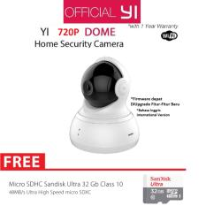 Jual Xiaomi Yi Dome Home Camera 360 Cctv International Version Micro Sd Sandisk 32Gb Class 10 Putih Branded