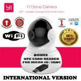 Harga Xiaomi Yi Dome Yi Home Camera 720P 112 Wide Angle 360 View Pan Tilt Control Night Vision 2 Way Audio Webcam International Edition Putih Gratis Otg Card Reader 2In1 For Micro Sd Sdhc Seken