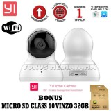 Jual Xiaomi Yi Dome Yi Home Internasional Version Camera 720P 112 Wide Angle 360 View Pan Tilt Control Night Vision 2 Way Audio Webcam Camera Cctv International Edition Putih Gratis Micro Sd Class 10 Vinzo 32Gb Baru