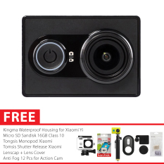 Xiaomi Yi International Paket Combo Xtra Godric Action Camera Original + Gratis Bundling Bonus - Hitam