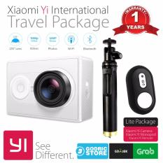 Xiaomi Yi International Paket Travel Action Camera + Tongsis Shutter - Putih