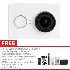 Xiaomi Yi International Version Combo Exclusive Action Camera Original - Putih + Gratis Paket Hadiah