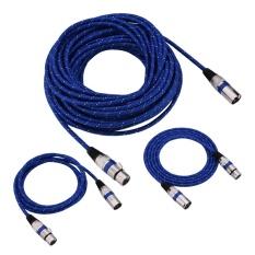 Xlr Male To Female Plug Keseimbangan 3Pin Mikrofon Mic Audio Kabel 1 8 Meter Oem Diskon 30