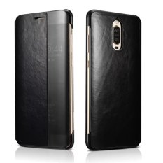 XOOMZ for Huawei Mate 9 Pro Cover Capa Window Genuine Leather Smart Flip Case for Huawei Mate 9 Porsche Design Mate9 Pro Case 5.5inch - intl