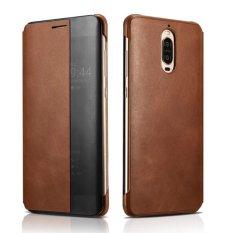 XOOMZ untuk Huawei Mate 9 Pro Cover Capa Jendela Genuine Leather Smart Flip Case untuk HUAWEI Mate 9 Porsche Desain Mate9 Pro Case-Intl
