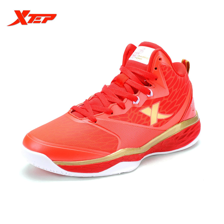 Promo Xtep Laki Laki Nyaman Sepatu Olahraga Hot Pria Sepatu Basket Merek 2016 Pria Sneaker Musim Panas Autentik Olahraga Sepatu Merah Emas Intl