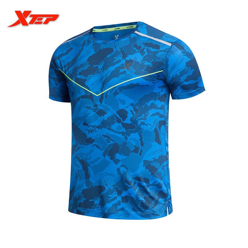 Jual Xtep Lari Kemeja Pria For Pakaian Olahraga Dan Lapangan Poliester Cocok Baju Atasan Kaos Man S Olahraga Dia Kering Biru Xtep Grosir