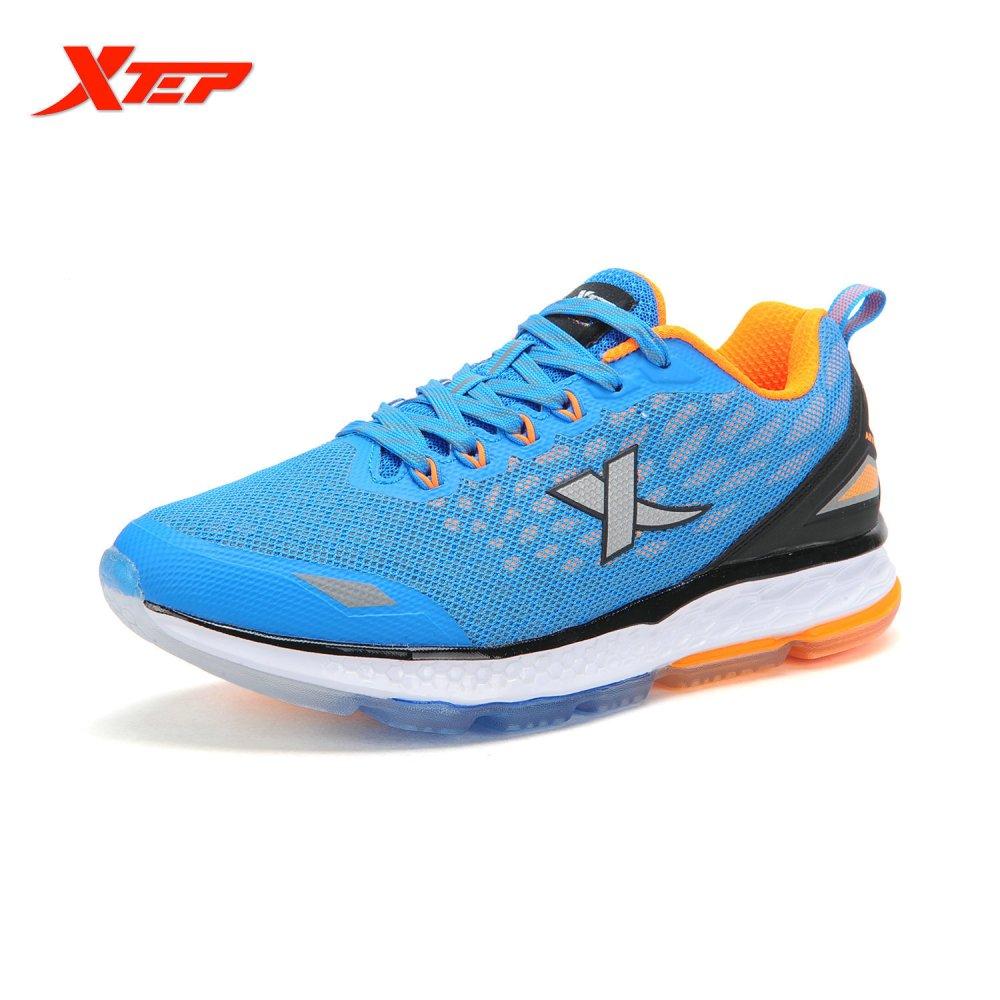 Harga Xtep Mens Menjalankan Sepatu Redaman Sepatu Olahraga Biru Intl
