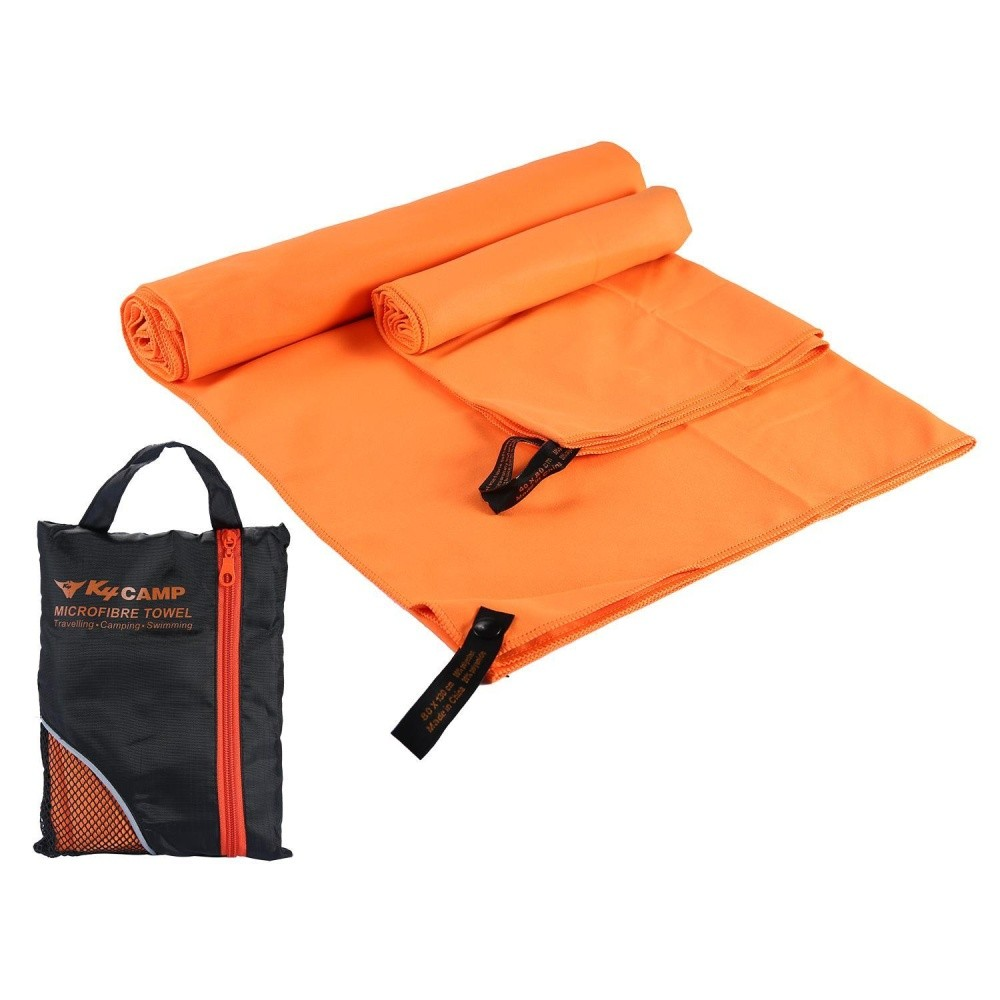 Xudzhe 2 Pcs/set Cepat Kering Penyerap Serat Mikro Handuk + Handuk Kecil untuk Olahraga Gym Perjalanan Berenang Camping Beach- INTL
