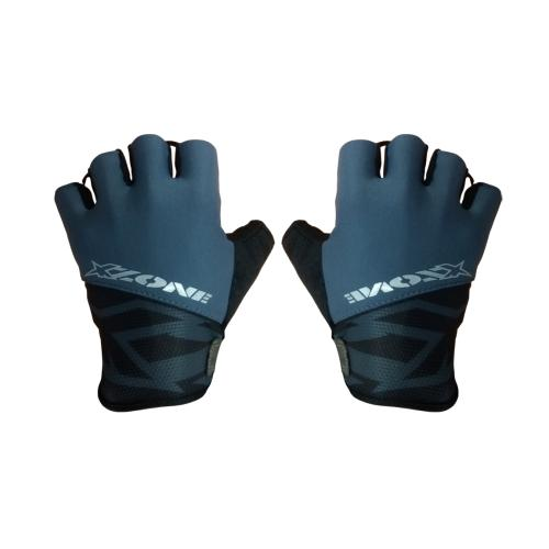 XZone Gloves Road Fleet L - Hitam Abu-abu