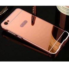 Y55 Case untuk BBK VIVO 55 Kasus Logam Golden Plating Aluminium Frame + Cermin Acrylic Back Cover Y55 Case- INTL