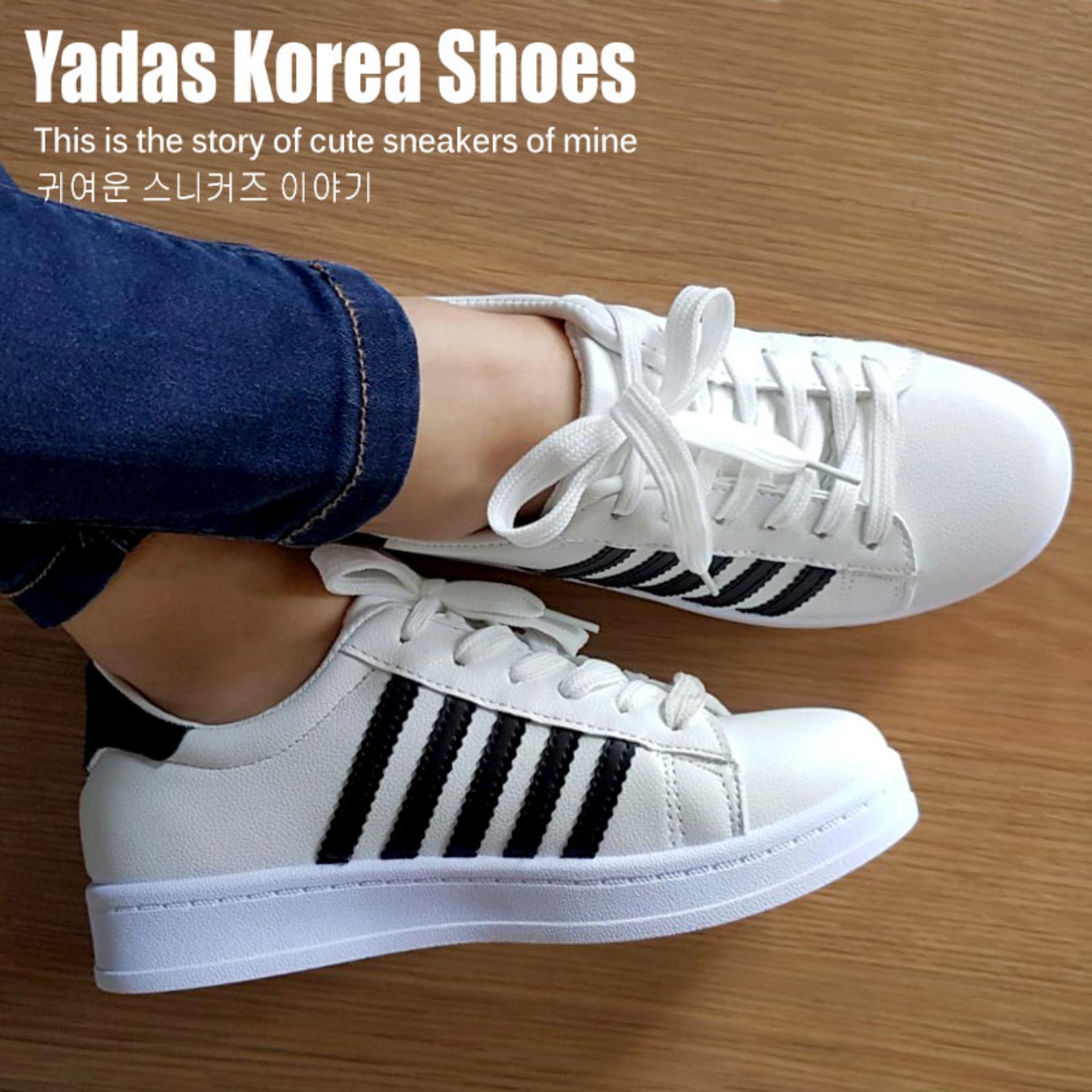 Ulasan Yadas Korea Sophia Sepatu Sneakers Wanita 5588 Black