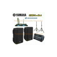 YAMAHA power mixer dan speaker