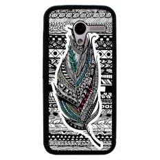 Jual Y M Tribal Etnis Bulu Pola Cover Case Untuk Motorola Moto X Hitam Grosir