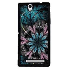 Y & M Daun Cantik Karton Phone Case untuk SONY Xperia C3 (Multicolor)-Intl