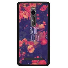 Y & M Cell Phone Case untuk Asus Zenfone 2 Nikmati Hari Ini Bunga Pola (Multicolor)