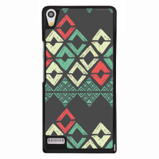 Y&M Cell Phone Case For Huawei Ascend P6 Tribal Geometry Pattern Cover (Multicolor) - intl