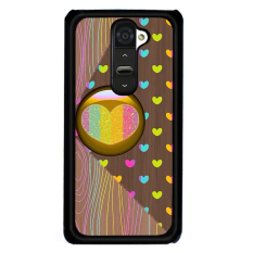 Y & M Colorful Heart Love Phone Case untuk LG G2 (Multicolor)-Intl