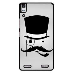 Y & M Topi Lucu dan Beard Phone Case untuk Lenovo A6000 (Multicolor)-Intl
