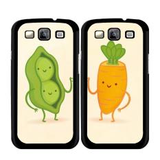 Y & M Cute Peanuts dan Lobak Karton Pasangan Case untuk Samsung Galaxy S5 Aktif (Multicolor)-Intl
