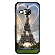 Y&M Fahion Beaitufl Heart Love Sky Effier Tower Phone Case for HTC One M8 Mini(Multicolor) - intl