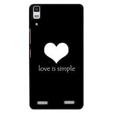 Y & M Love Is Simple Phone Case untuk Lenovo A6000 (Multicolor)-Intl