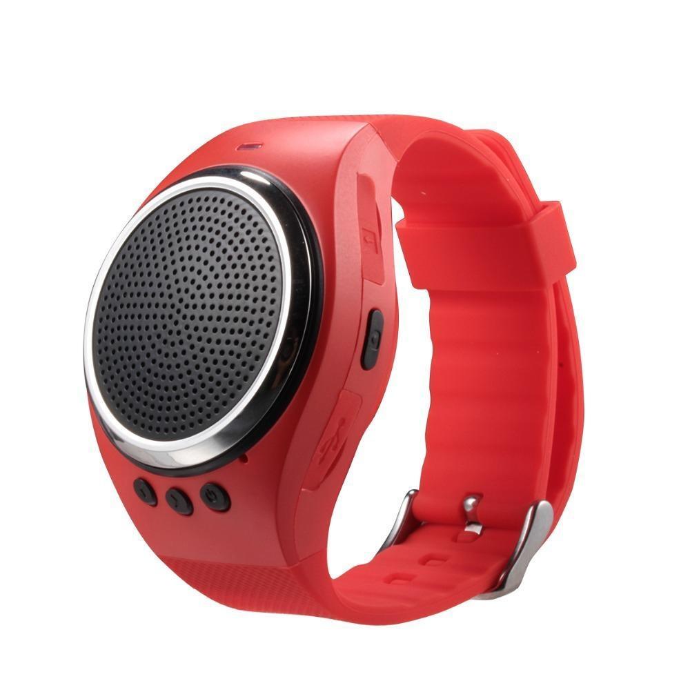 Yaobang Olahraga Musik Bluetooth Nirkabel Speaker Watch A dengan FM Radio, Panggilan Handsfree, TF Kartu Bermain, Selfie Rana, Jam Alarm HP Anti-hilang untuk Smartphone, Hitam-Intl
