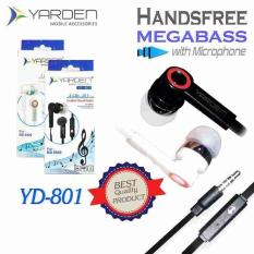 Yarden YD801 Universal Smart Handsfree Mega Bass With Microphone - Support Android BB Nokia